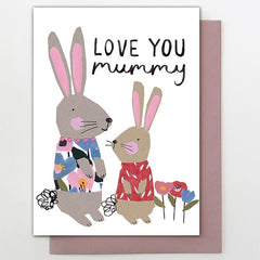 Mummy Bunnies Card