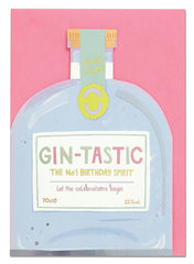 Gin-Tastic Birthday Spirit Cut Out Card