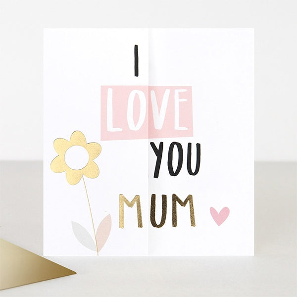 I Love You Mum Fold Out Mothers Day Card