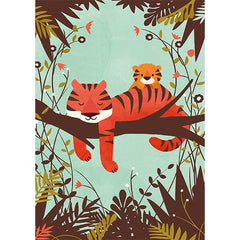 Sleeping Tiger and Cub Card