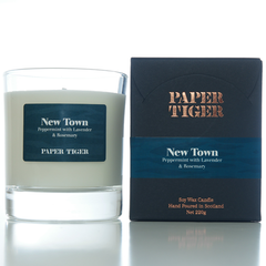 Paper Tiger New Town Peppermint, Lavender, and Rosemary Large Candle