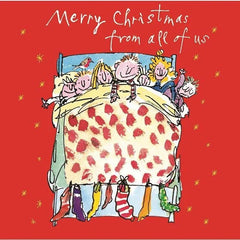 Children In Bed Christmas Card