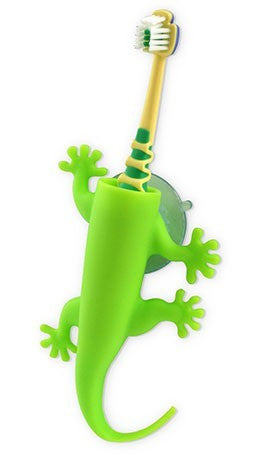 Larry the Lizard Toothbrush Holder Green
