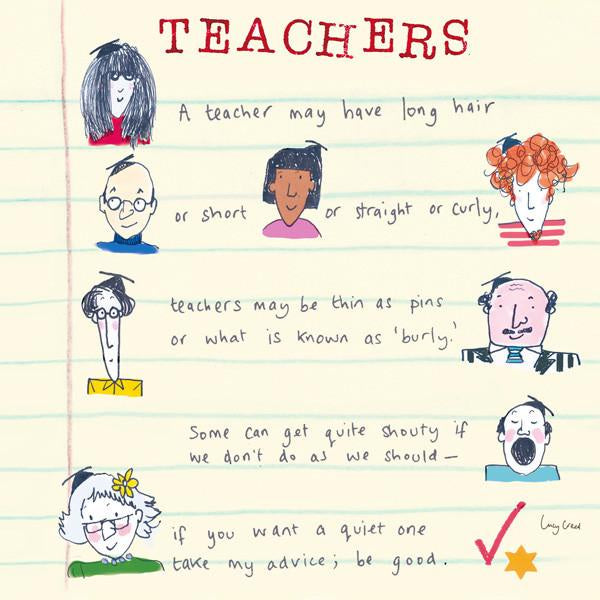 Teachers Card