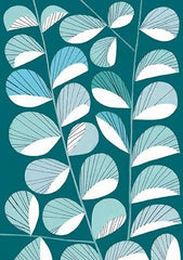 Sea Leaves Print Card