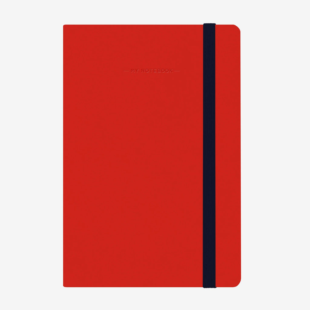 Medium Lined Red Notebook