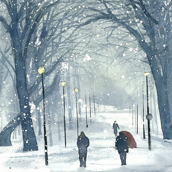 Meadows, Winter Day Card