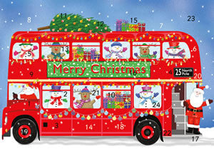 Double Decker Bus Advent Card
