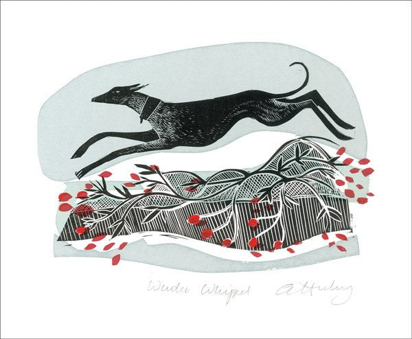 Winter Whippets Blank Card