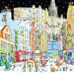 Victoria Street from the Grassmarket Pack of 6 Christmas Cards