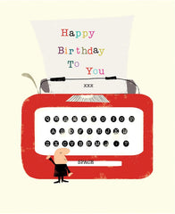Happy Birthday to You Typewriter Card