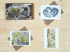 Box of 12 Angie Lewin Wood Engraving Postcards