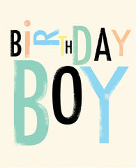 Birthday Boy Typography Card