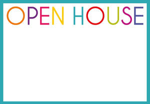 Pack of 8 Open House Invitations