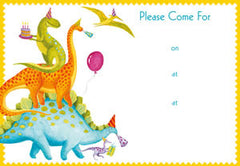 Pack of 8 Partysaurus Invitations