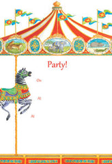 Pack of 8 Carousel Invitations
