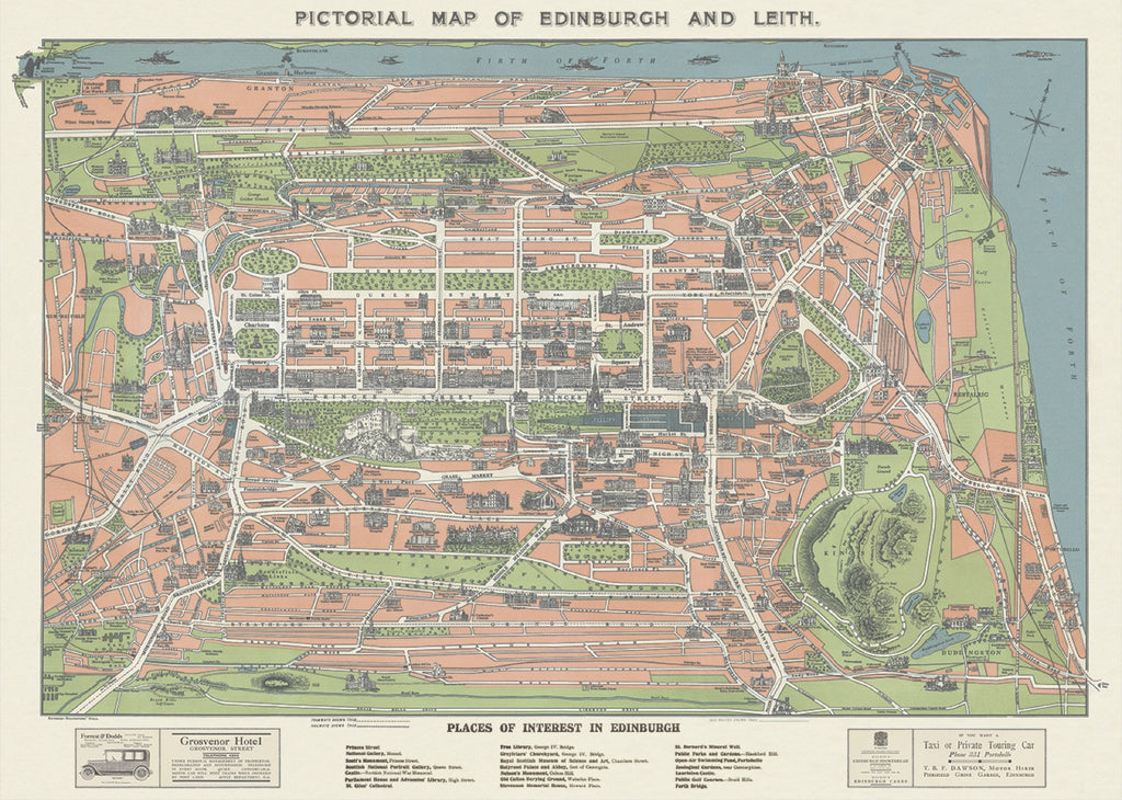 Edinburgh and Leith Map Sheet Wrap
