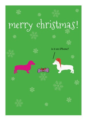 Christmas Card - Frankie Dog Iphone