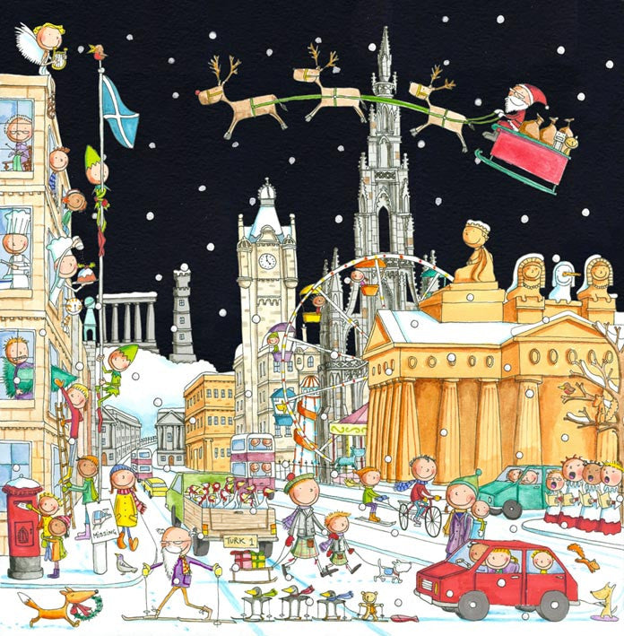 Looking East Along Princes Street Pack of 6 Christmas Cards