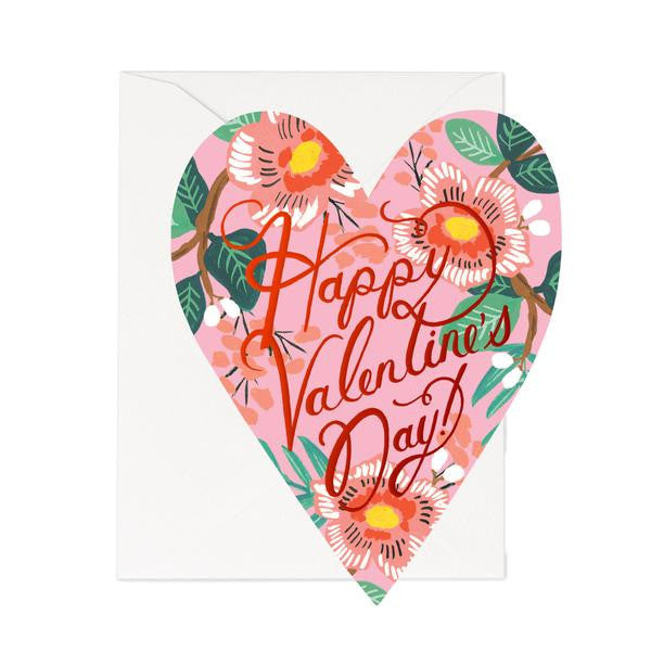 Happy Valentine's Day Bouquet Of Flowers Card