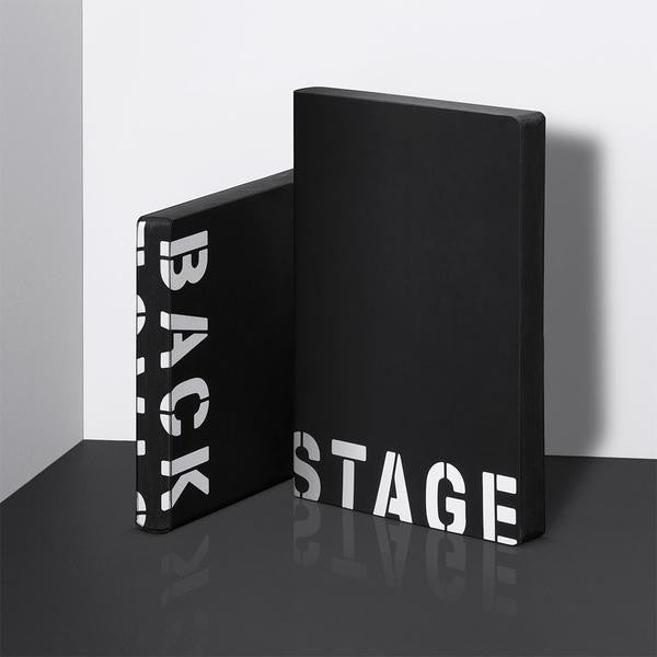 Back Stage Large Leather Notebook