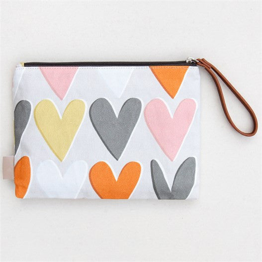 Hearts Layered Clutch Bag