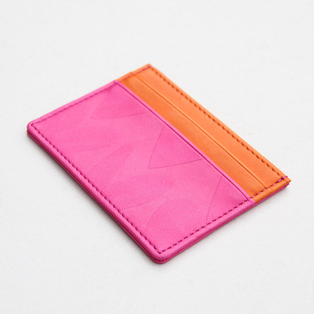 Embossed Hearts Travel Card Holder