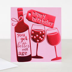 Happy Birthday Wine Bottle Card