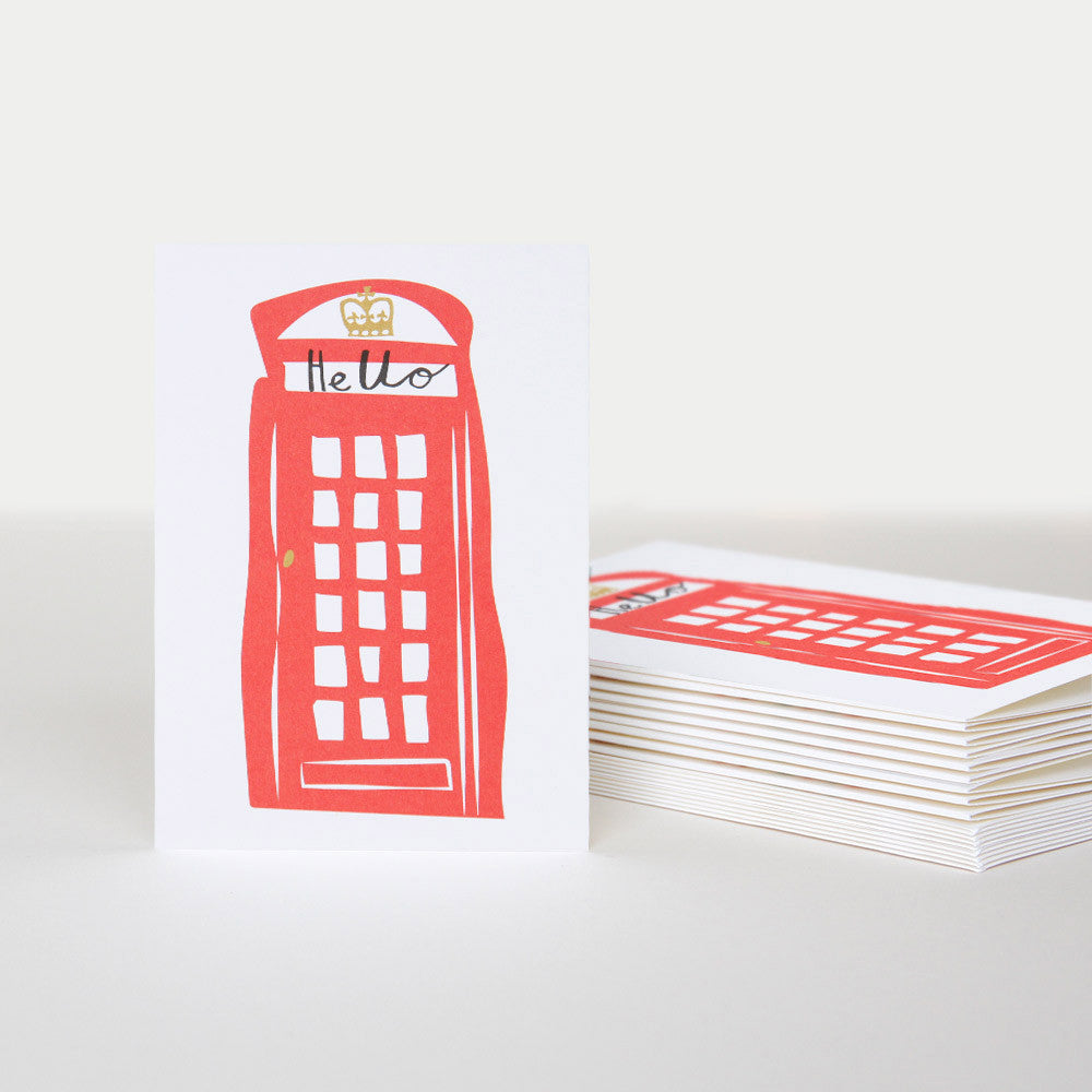 Hello Telephone Box Card Pack