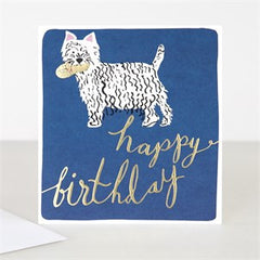 Happy Birthday Dog Modern Calligraphy Card