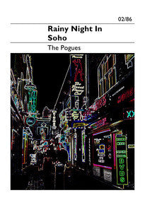 A Rainy Night in Soho 30x40cm Print