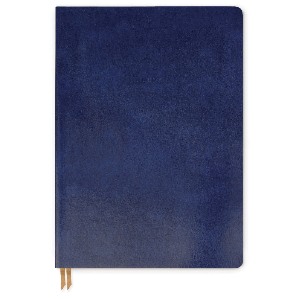 Bonded Leather Journal - Large Blue