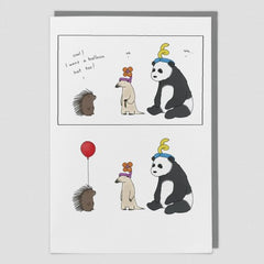 Balloon Hat Birthday Card