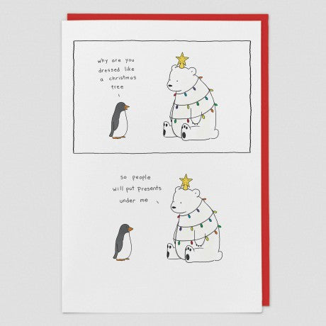 Polar bear Xmas Christmas Card