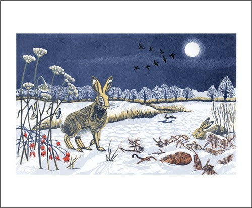 Moonlit Hare Card