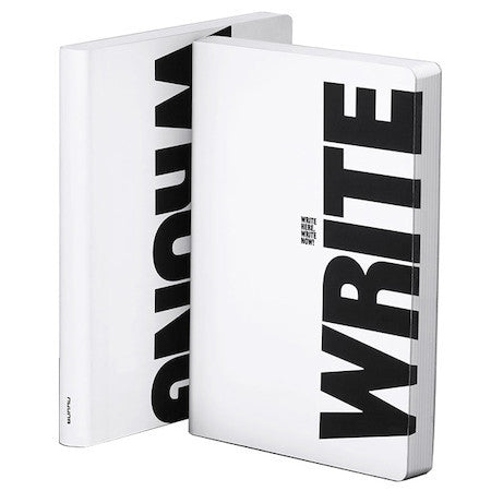 Write Wrong Large Leather Notebook