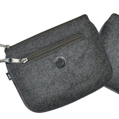 Grey Herringbone Emily Purse