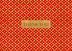 Brocade Pack of 8 Thank You Cards
