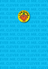 Mr Clever I am Clever Card with Badge