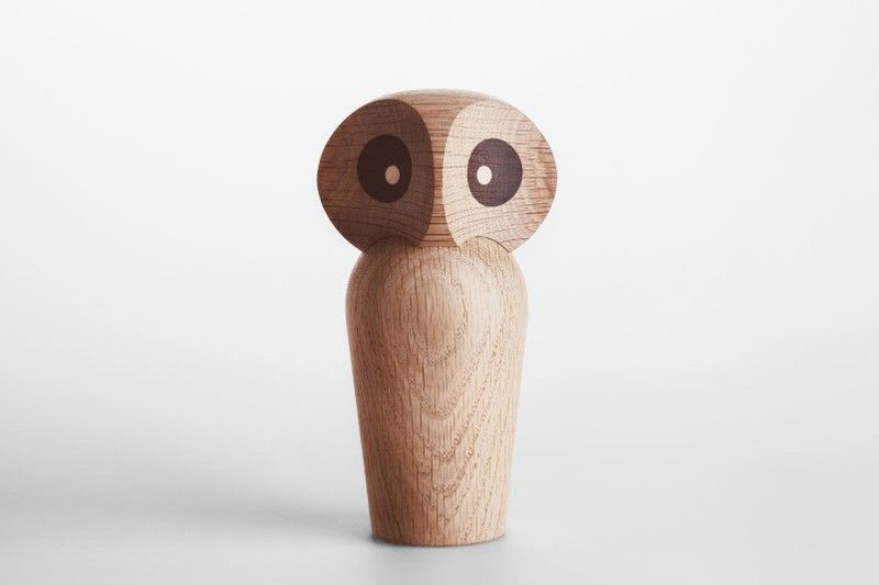 Large Natural Wooden Owl