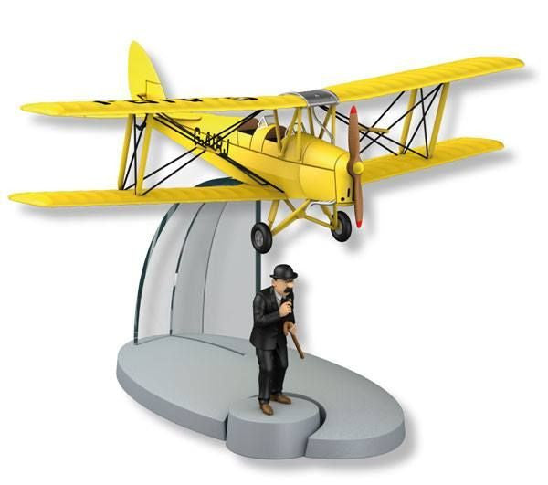 The Acrobatic Yellow Biplane Figure