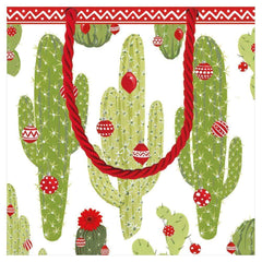 Merry Cactus Small Gift Bag