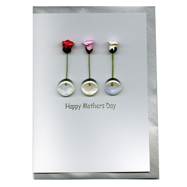 3 Roses happy Mother's Day Card