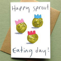 Happy Sprout Day Christmas Card