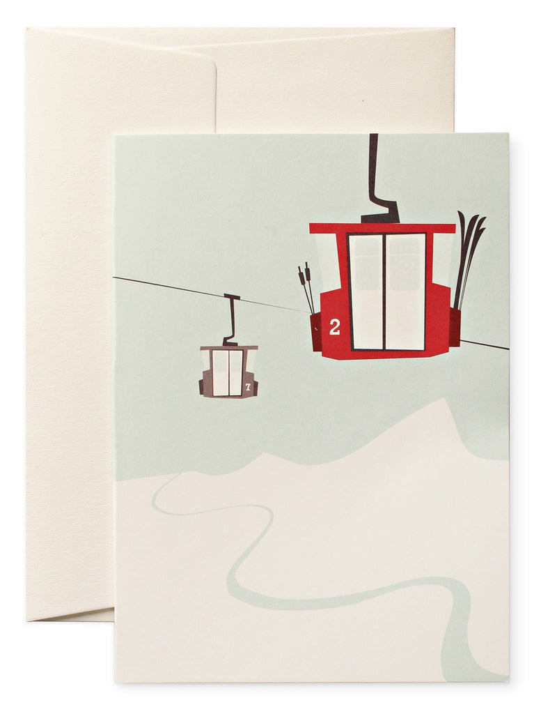 Ski Lift Christmas Card