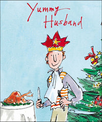 Quentin Blake Yummy Husband Christmas Card