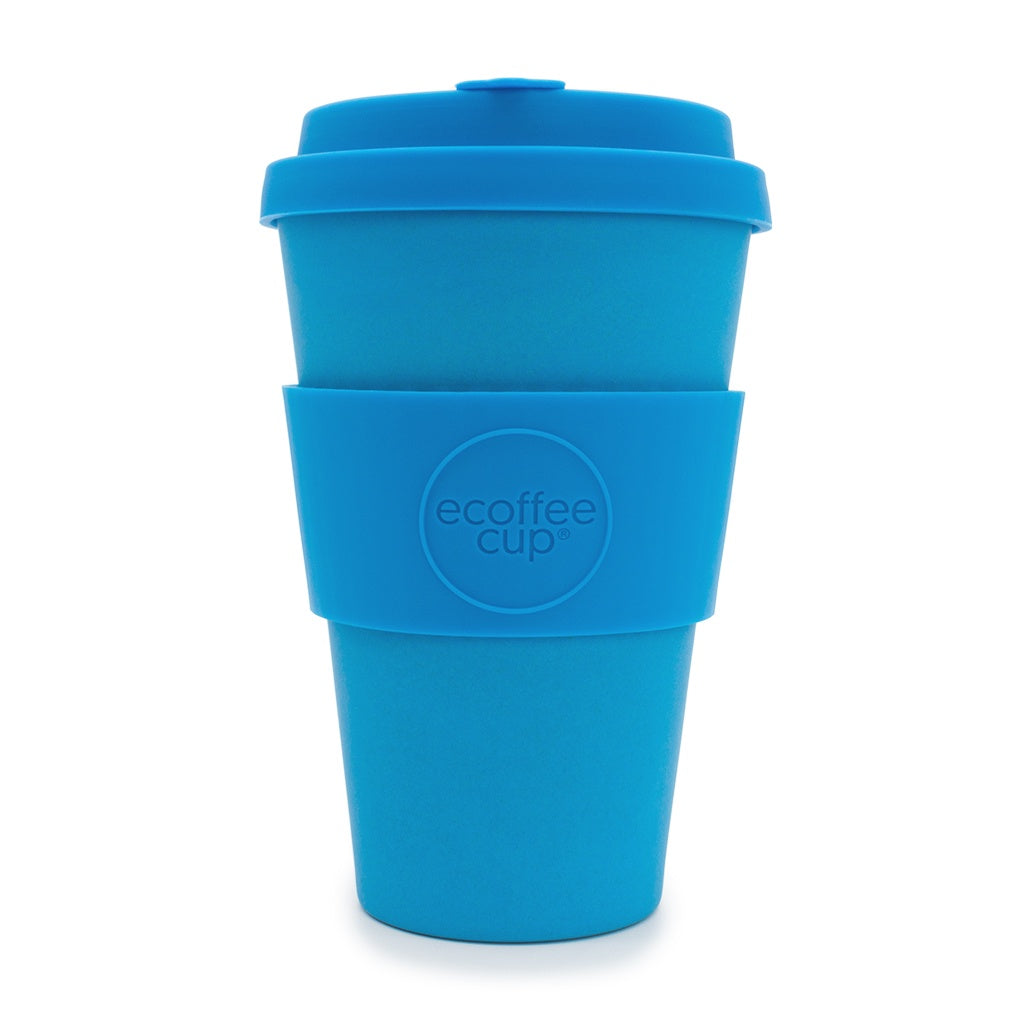Ecoffee Cup Red Dawn 14oz Reusable Bamboo Coffee Cup 400ml Bright Red
