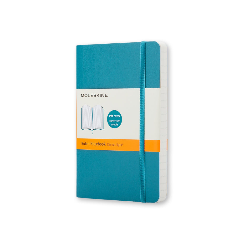 Moleskine Pocket Soft Cover Ruled Notebook Reef Blue