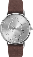 Tintin Watch- Tintin Steel and Brown