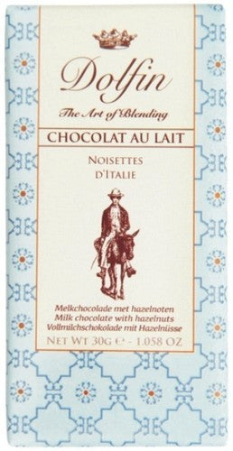 Dolfin Mini Milk Chocolate With Hazelnuts Bar
